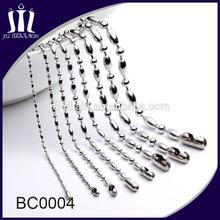 China de fábrica de cobre bolas collares de cadena