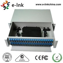 2U SC 24 port Patch Panel/ODF 19'' Rack wall mount Fiber Patch Panel
