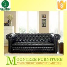 Moontree MSF-1107 modern italian genuine chesterfield leather sofa