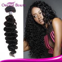 Highlighted Hair Weave in Bulk Best Feedback Micro Loop Hair Extension No Chemical Process Deep Wave