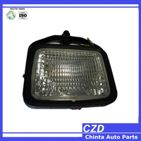 high quality 3 inch square 12v 24v led 12w forklift work light, truck tractor and trailer side marker light