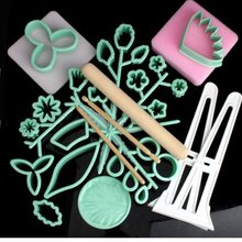32 Pcs Fondant Cutters Cake Decorating Tools Set Sugar Sugarcraft Paste Plunger