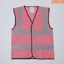 High Fashion Printed Logo Womens Dresses Pink Traffic Safety Wear Protection Equiment Glow In The Dark Fabric
