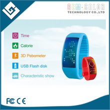 ATZ Smart LED Silicon Wristband Pedometer with Calorie Counter sport step data record