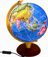 Arched light globe with wooden base(Administrative Region)