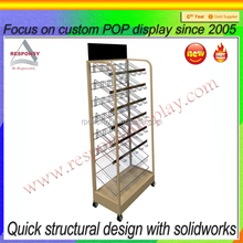 Free standing metal volleyball display stand and holder