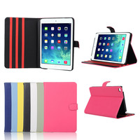 Factory Direct Selling Pure Color Flip Case for iPad Mini 4 with Stand Function
