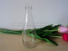 338ml beautiful design clear apple/orange fruit juice glass bottle