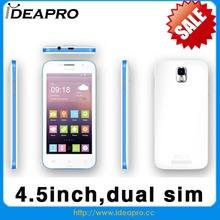 mtk6572 dual core 4.5 inch Dual sim dual standby oem mobile phone manufacturers