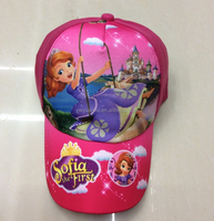 2015 Very Hot Princess Sofia The First Floral Kids Girl Peaked Cap Adjustable Sunny Hat