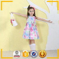 2015 baby boutique wholesale new design kids dress, cotton baby clothing thailand