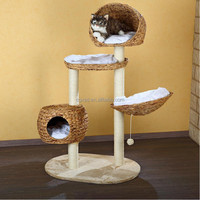New design durable handcraft rattan cat house