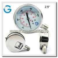 High quality stainless steel bourdon tube bottom type pressure gauge glycerine