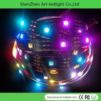 dream color flexible digital ws2812 led strip ws2812b ws2811 led 5050 RGB tape , ip67 black pcb dc 5v, 32 pixel/m