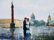 Home decor wholesale light up LED canvas oil painting on the wall 44750
