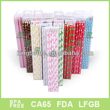 colorful paper straw 23cm