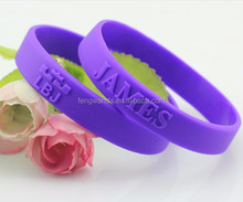 Wholesale king lebron james and kobe bryant sport silicone rubber wristband machine for basketball