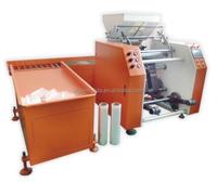 pe packaging plastic roll stretch film rewinder machinery
