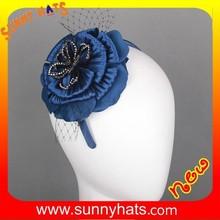 Wholesale Royal/Purple/Green/White/Orange Big Flower Wedding And Party Hats Or Fascinators