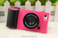 factory price camera 3d pattern pc stand cute case cover for iphone 4/4s