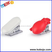 Maner wei new brand hot sale decorative paper pill shaped stapler
