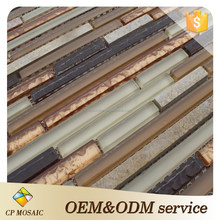 Newly Design Cold Spray Tech Beveled Glass Mirror Mosaic Tile