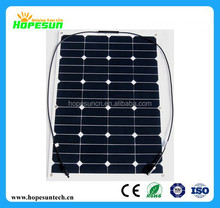 50W 60W 70W 80W 90W 100W high efficient flexible Solar Panel,semi flexible solar panels price China by Factory directly