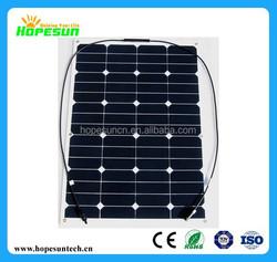 50W 60W 70W 80W 90W 100W high efficient flexible Solar Panel,semi flexible solar panels price China by Factory directly