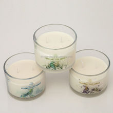 2015 new design long burning time 2 wick fragrant soy candle,3 scents golden honey,tropical coconut,Vanilla Bean avaialbe