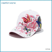 2015 Aliexpress Top fashion spring and summer butterfly embroidery colorful baseball cap