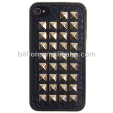 For iPhone 4g 4s punk rivet skull tpu cell phone case