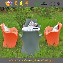 High quality furniture plastic table and chairs multicolored outdoor furniture plastic