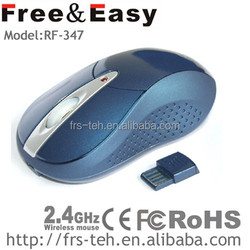 RF-347 3D easily cleaned medium size desk PC mouse wireless 2.4ghz