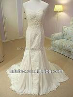 Spandex Chiffon mermaid wedding dress