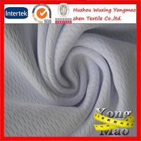 good stretch knitted 100 polyester sport shirt birdeye mesh fabric