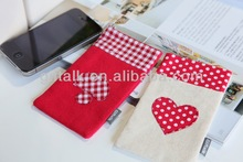 cotton mobile phone bag for iphone