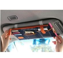 Hot selling car sun visor organizer / visor storage / Car Sun Visor Storage for Pen Phone Charger