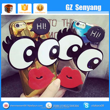 Hot Products Big Eyes Red Lips Cartoon Phone Case for iphone 6 6 Plus Case
