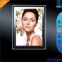 Fashion style LED backlit clear acrylic photo frame
