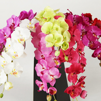 high quality artificial orchids wholesale ornament butterfly cymbidium flores artificiales silk decorative flower