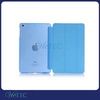 2015 new product simple design pu+pc transparent case for ipad mini