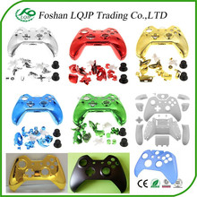 new design chrome plastic matte glossy crystal full shell faceplate for xbox 360 controller housing shell shells