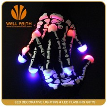 Party Supplies Promotion Gifts Black or White Finger Flashing Led Magic Gloves