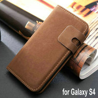 Squirrel design wallet mobile phones housing for Samsung Galaxy S4 I9500 cheap price with charger bag stand function