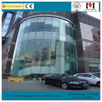 Double Wall Glass Frameless Glass Curtain Wall Point-fixing Glass Curtain Wall for Sale 2700