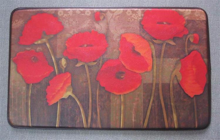 Red poppy flower pattern 1830 inch anti fatigue kitchen mat buy red poppy flower pattern 1830 inch anti fatigue kitchen mat mightylinksfo