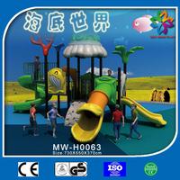2015 new design outdoor kids plastic play set slide and swing,charming tube slide for sale