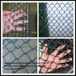 china supply 5 foot 9 gauge blue pvc coated chain link fence