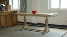 classic reclaimed wood dining table/vintage recycled wooden furniture