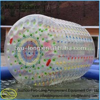 PVC/TPU hot sale inflatable wheel water roller ball,human hamster ball,water roller ball